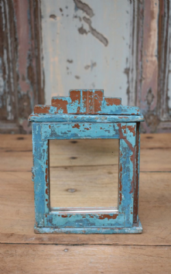 blue painted wall cabinet <b>sold<b>